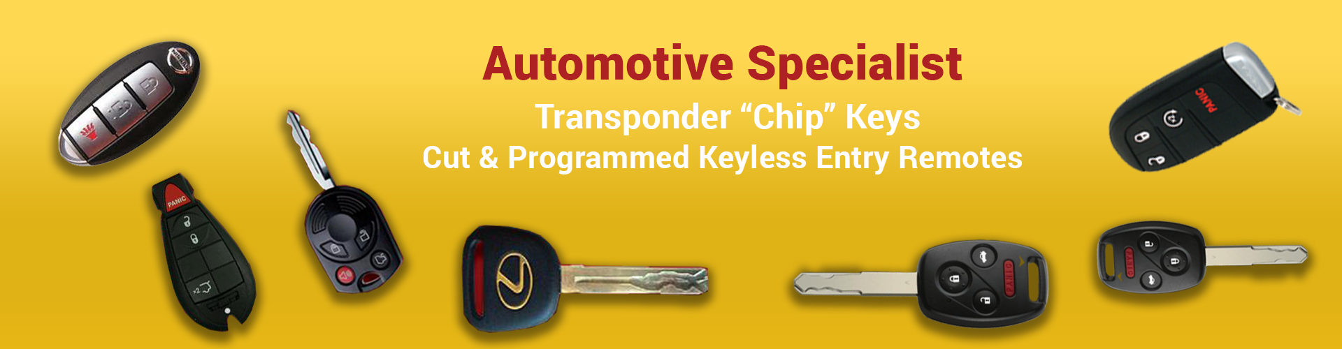 Automative specialist transponder chip keys